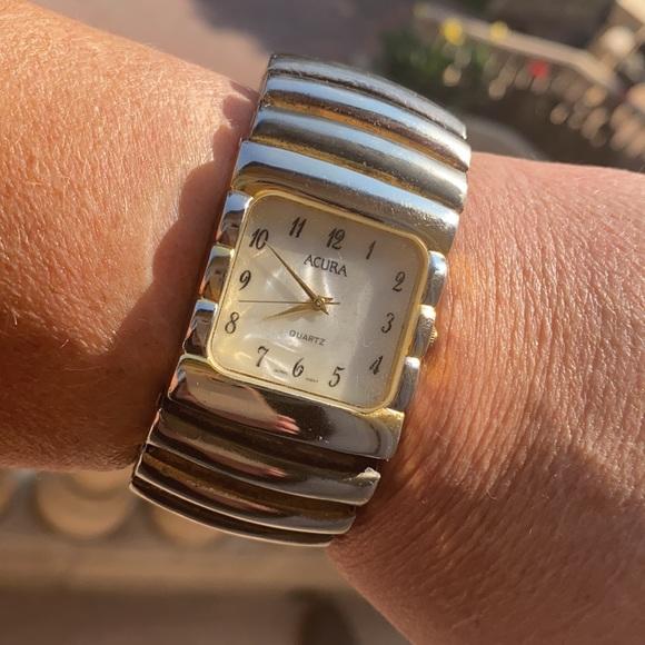 Vintage Acura Quartz Stretchy Bracelet Watch